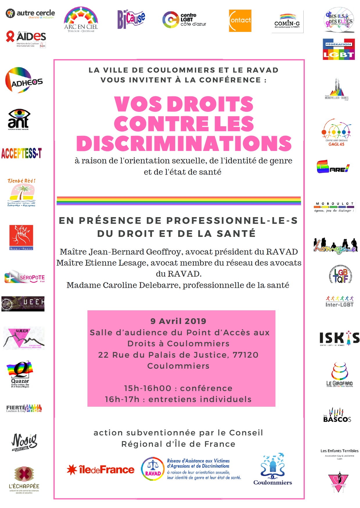 conference discrimination droit coulommiers