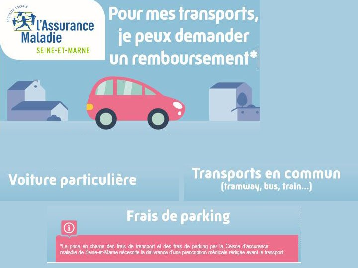 cpam remboursement transport parking